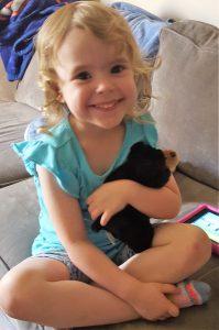 Olivia and bear